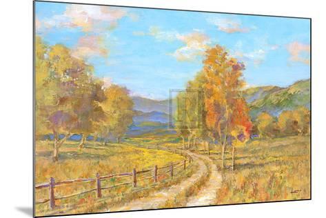 Country Road-Michael Longo-Mounted Art Print