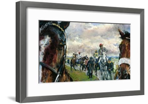 After The Bell-Newcastle Races-Jay Boyd Kirkman-Framed Art Print