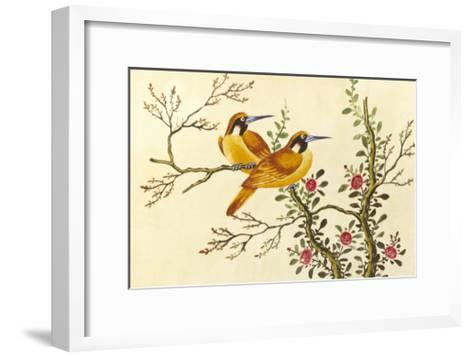 Yellow Birds On Branch--Framed Art Print
