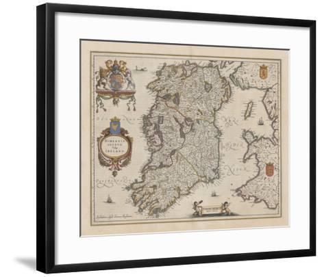 Hibernia Regnum Vulgo Ireland-J. Jansson-Framed Art Print