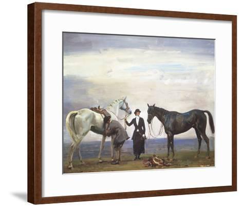 Changing Horses-Sir Alfred Munnings-Framed Art Print