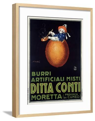 Moretta Butternut Cream-Achille Luciano Mauzan-Framed Art Print