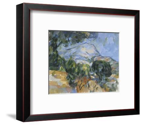 Mount Sainte-Victorie, c.1904-Paul C?zanne-Framed Art Print