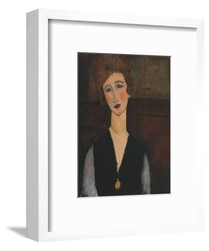 Portrait of a Woman, c.1918-Amedeo Modigliani-Framed Art Print