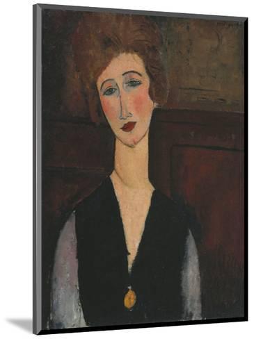 Portrait of a Woman, c.1918-Amedeo Modigliani-Mounted Art Print