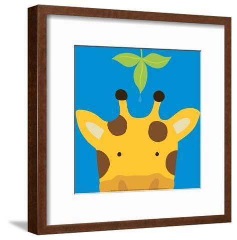 Peek-a-Boo VII, Giraffe-Yuko Lau-Framed Art Print