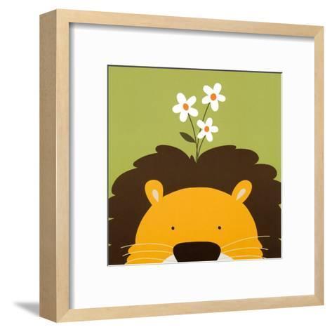 Peek-a-Boo IX, Lion-Yuko Lau-Framed Art Print
