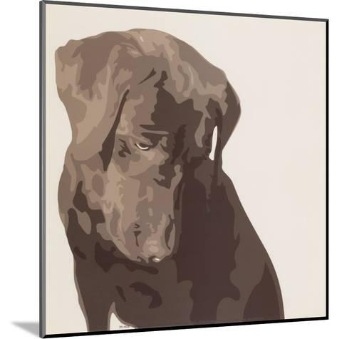 Chocolate Labrador-Emily Burrowes-Mounted Art Print