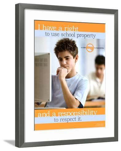 School Property--Framed Art Print
