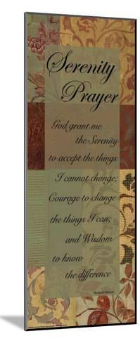 Serenity Prayer-Marilu Windvand-Mounted Art Print