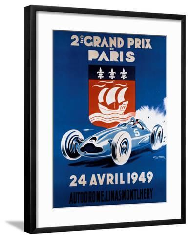 Grand Prix de Paris, 24 Avril 1949-Geo Ham-Framed Art Print