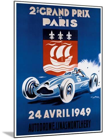 Grand Prix de Paris, 24 Avril 1949-Geo Ham-Mounted Giclee Print