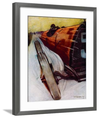 Voitures de Courses- Draguy-Framed Art Print