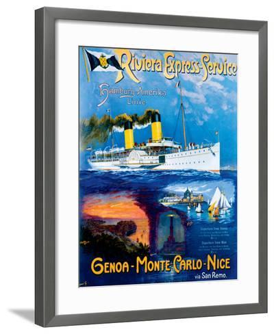 Riviera Express Service--Framed Art Print