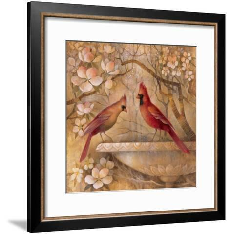 Elegance in Red II-Elaine Vollherbst-Lane-Framed Art Print