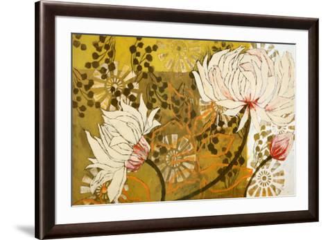 Green Linen-Kate Birch-Framed Art Print