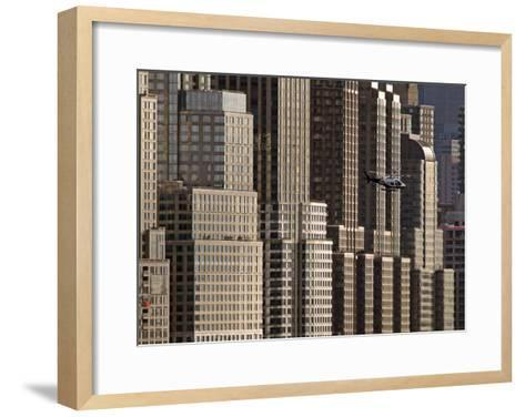 New York Helicopter-Hank Gans-Framed Art Print