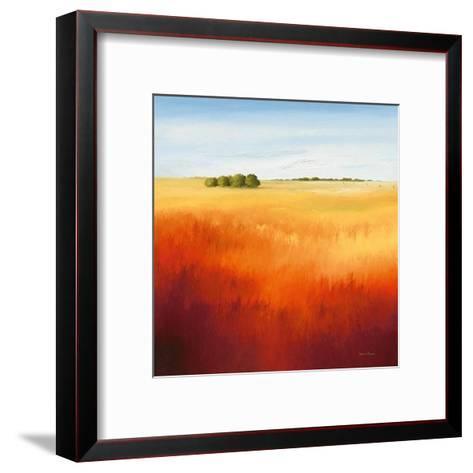 Red Fields II-Hans Paus-Framed Art Print