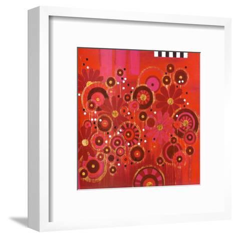 Red Circles II--Framed Art Print