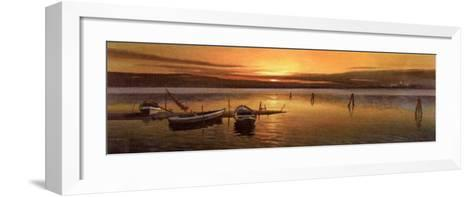 Lagoon at Sunset II-W^ Galland-Framed Art Print