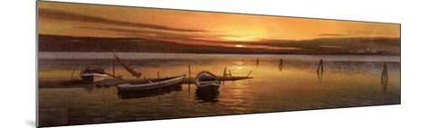 Lagoon at Sunset II-W^ Galland-Mounted Art Print