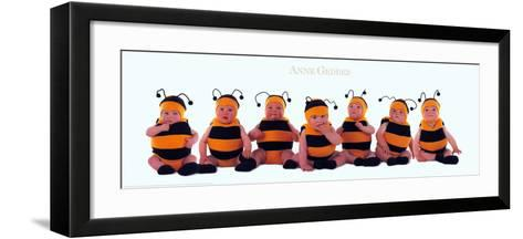 Bumblebee Babies-Anne Geddes-Framed Art Print