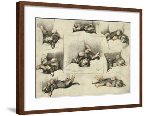 The Model-Cecil Aldin-Framed Art Print