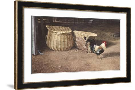 Cockerel And Baskets-Peter Munro-Framed Art Print