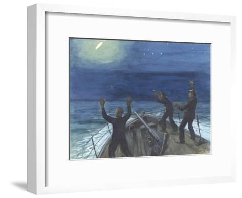 The Nocturne Of The Nore-Snaffles-Framed Art Print