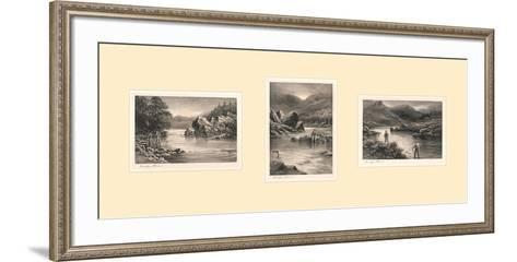 The Elusive Salmon Triptych-Douglas Adams-Framed Art Print