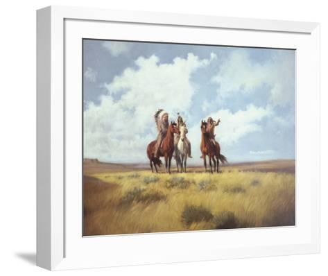 Indian Scouts-Harry Bishop-Framed Art Print