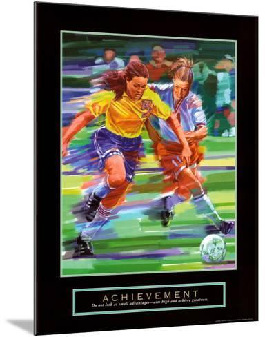 Achievement: Soccer-Bill Hall-Mounted Art Print
