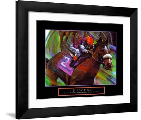 Success: Horse Race Jockey-Bill Hall-Framed Art Print