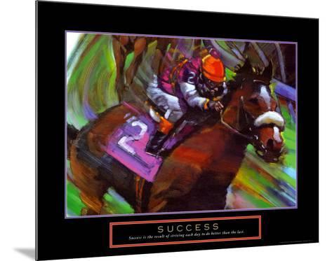 Success: Horse Race Jockey-Bill Hall-Mounted Art Print