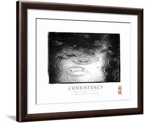 Consistency: Raindrops--Framed Art Print