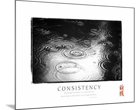 Consistency: Raindrops--Mounted Art Print