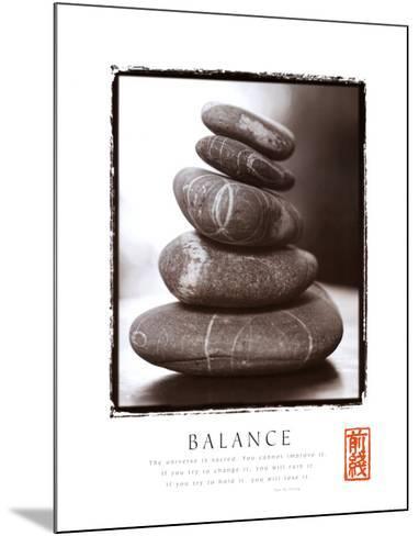 Balance: Rocks--Mounted Art Print