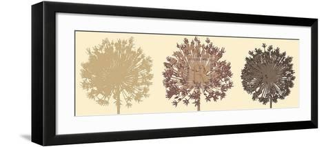 Allium Trio-Julie Lavender-Framed Art Print