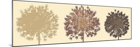 Allium Trio-Julie Lavender-Mounted Art Print