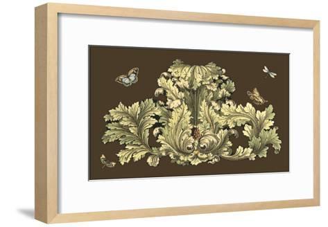 Nature's Splendor on Chocolate I-Michel Pergolesi-Framed Art Print