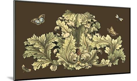 Nature's Splendor on Chocolate I-Michel Pergolesi-Mounted Art Print