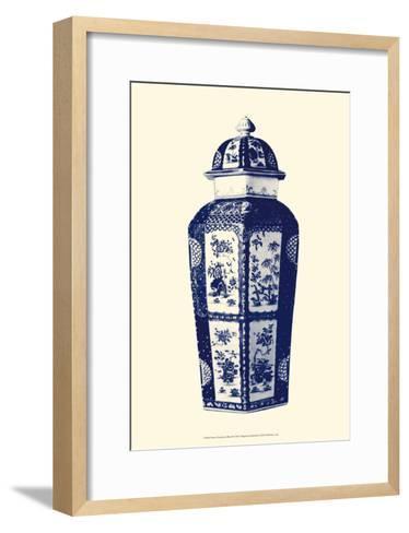 Manor Porcelain in Blue III--Framed Art Print