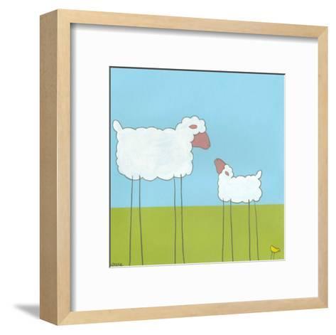 Stick-Leg Sheep I-Erica J^ Vess-Framed Art Print