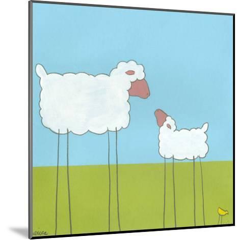 Stick-Leg Sheep I-Erica J^ Vess-Mounted Art Print