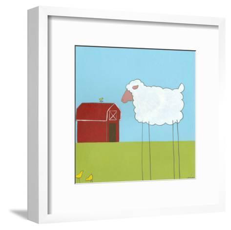 Stick-Leg Sheep II-Erica J^ Vess-Framed Art Print