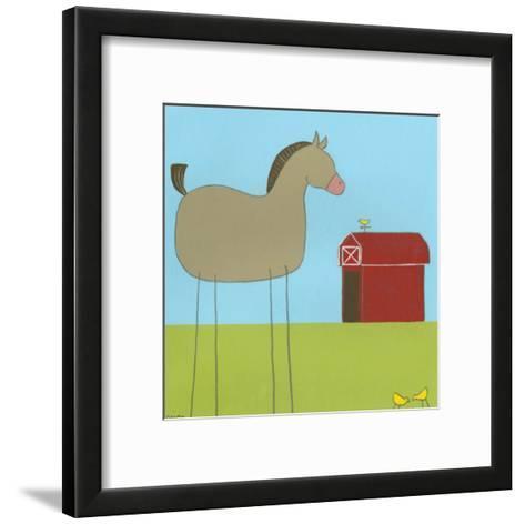 Stick-Leg Horse I-Erica J^ Vess-Framed Art Print