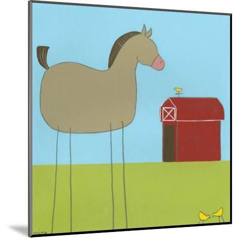 Stick-Leg Horse I-Erica J^ Vess-Mounted Art Print