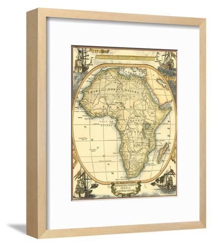 Nautical Map of Africa--Framed Art Print