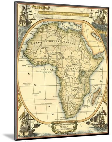 Nautical Map of Africa--Mounted Art Print