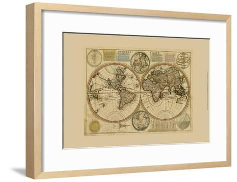 Dewerelt Caart Map--Framed Art Print